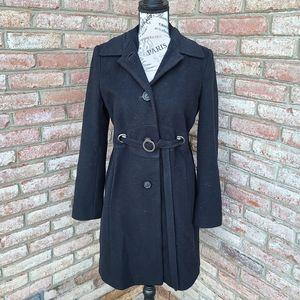 Via Spiga Wool Cashmere Peacoat Jacket Black 4